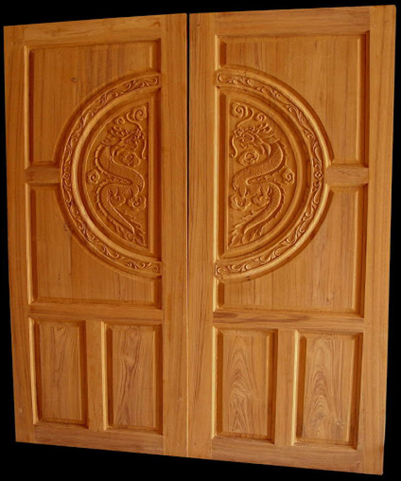 Wood design ideas double front door designs wood kerala for Wood door design latest