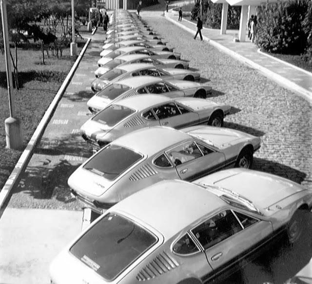 Foto histórica dos SP2 enfileirados