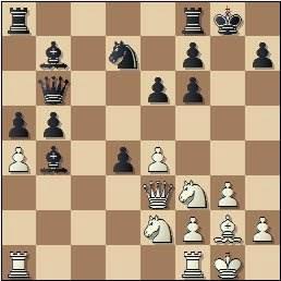 Partida Lupi-Medina en el II Encuentro Ibérico de Ajedrez 1946, posición después de 16…cxd4
