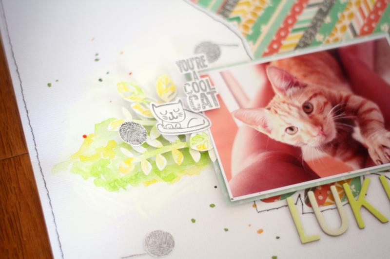 scrapbook - cat - chile