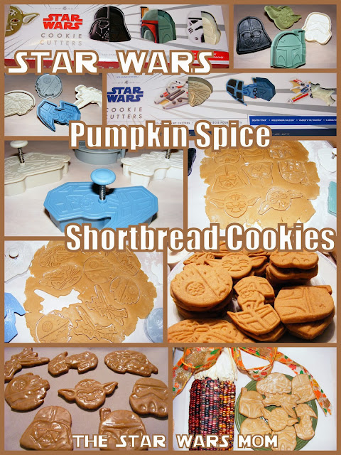 Star Wars Shaped Cookies - Pumpkin Spice Shortbread