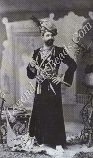 Jean-Philippe Worth, son of the famous couturier, Charles Frederick Worth, and father-in-law of Louis Cartier, dressed as an Indian prince for an Oriental costume ball.