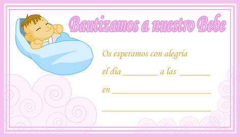Plantilla de bautizo para imprimir - Imagui