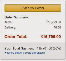 place your order at amazon India
