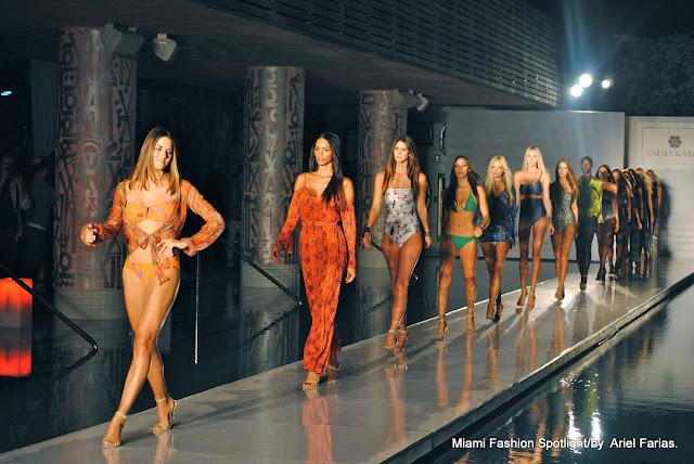 Sinesia karol Fashion Show at Funkshion Swim Week at SLS Hotel