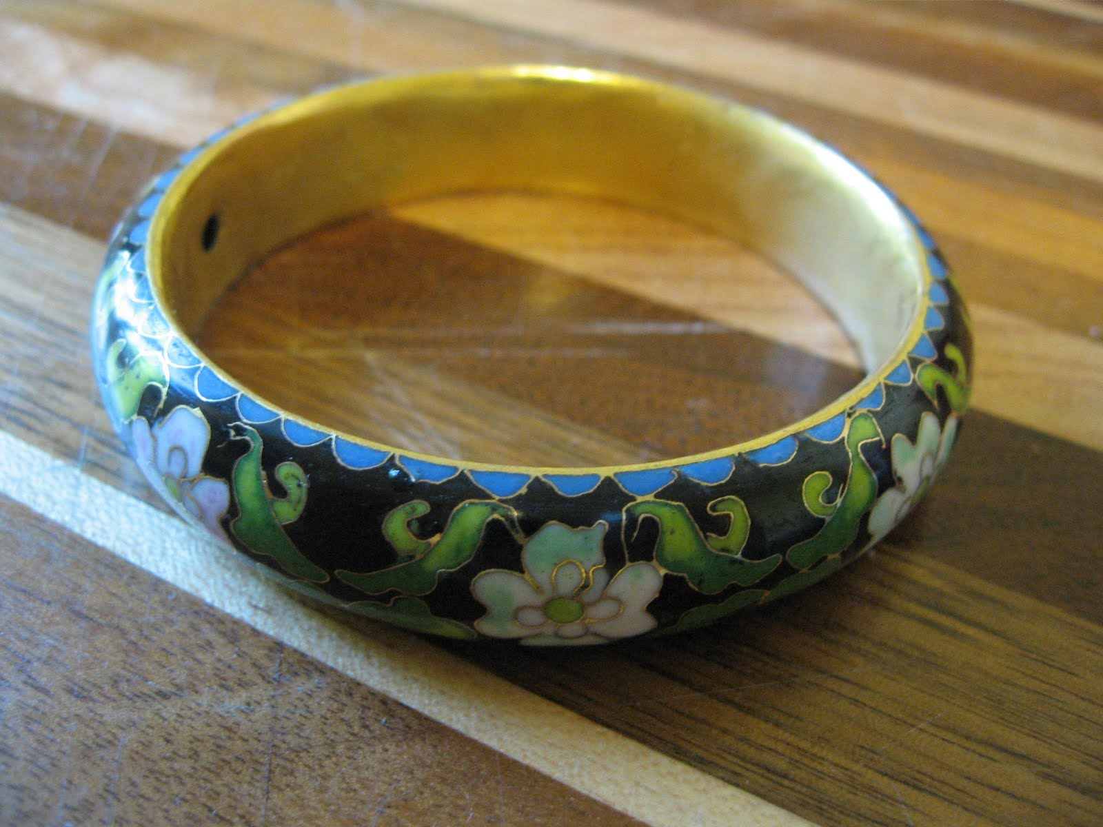 Cloisonné Bracelet In A Bulk Jewelry Lot It Is Old And Probably Not Meant For Export
