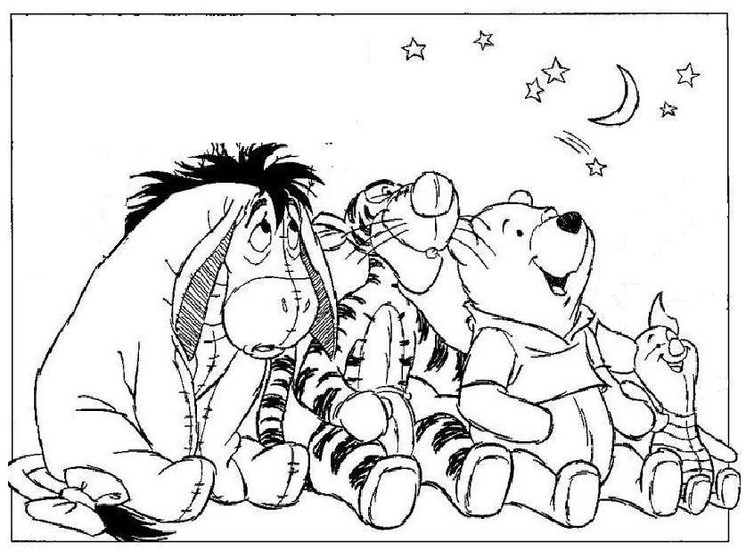 Cartoons Coloring Pages: Winnie the pooh and Friends Coloring Pages
