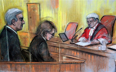 Vicky Pryce and Chris Huhne in court