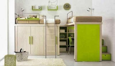 desain kamar tidur anak laki-laki, Desain Kamar Tidur Anak Ruang Minimalis - Full Gambar