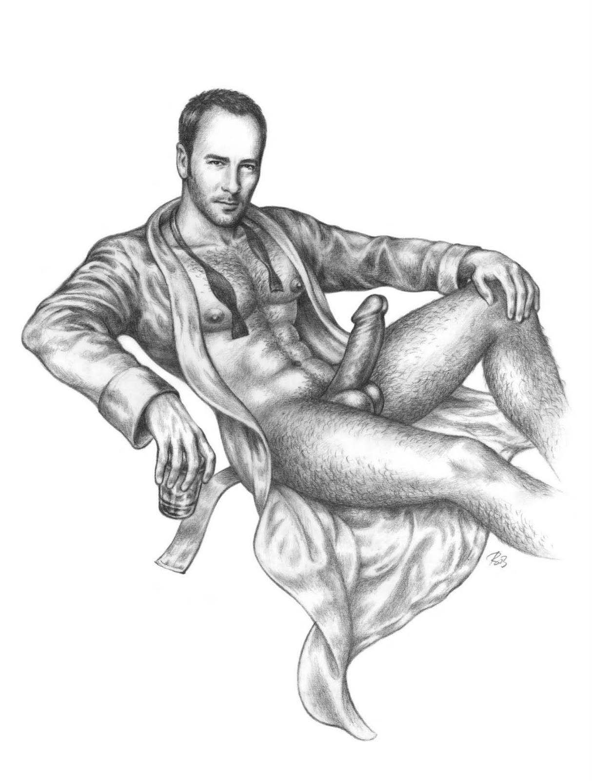 male drawing Nude sex