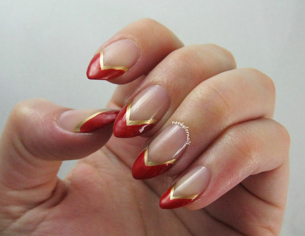 French Tips Pointy Nails