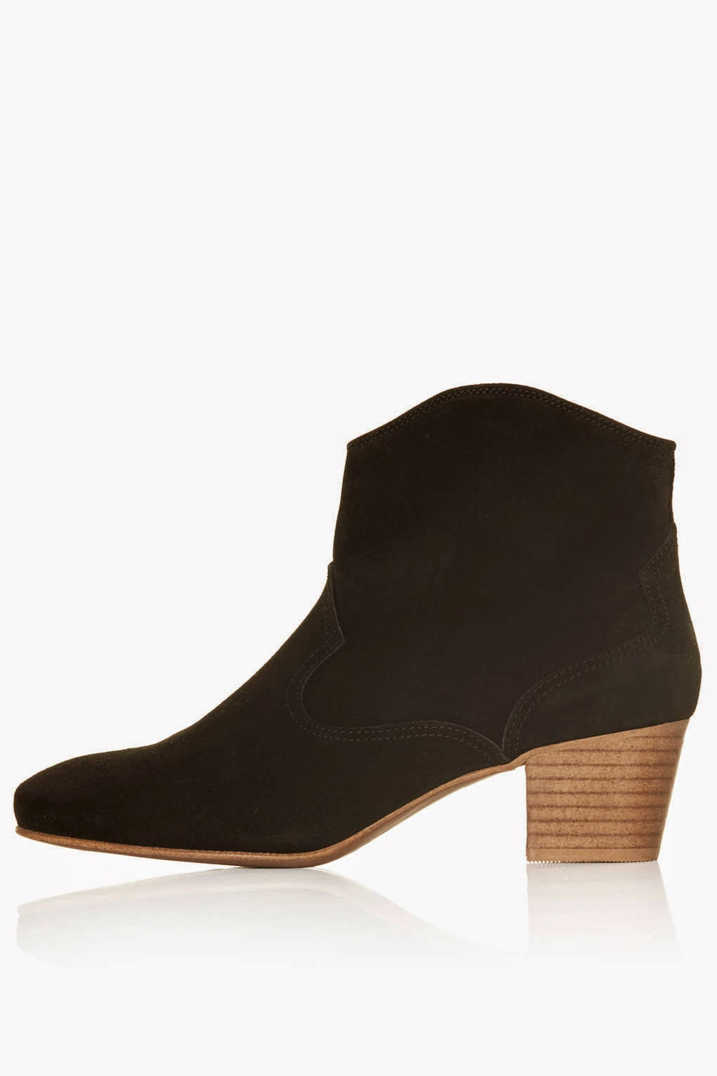 black suede cowboy boot