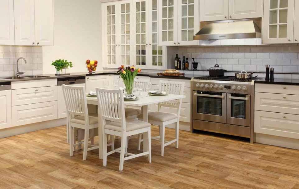 model kayu lantai dapur