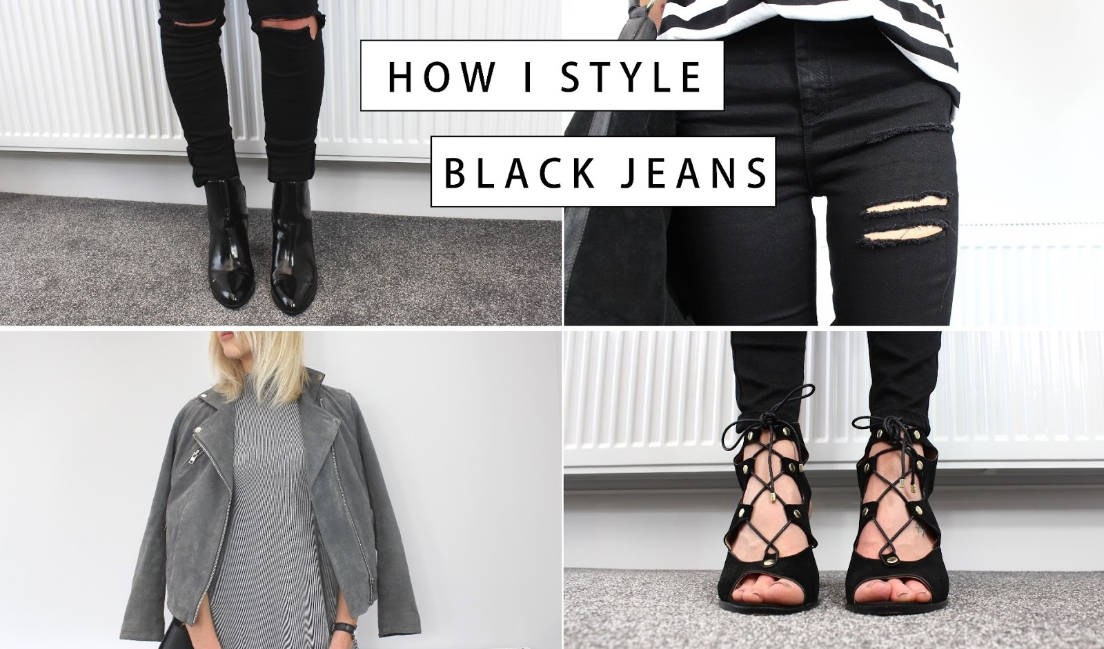 How to wear black jeans on UK fashion blog