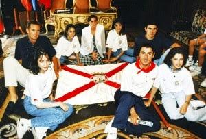 Estíbaliz Martínez, Tania Lamarca, Lorena Guréndez, Almudena Cid, Maite Zúñiga, Martín Fiz, Aitor Karanka, Iñaki Urdangarin
