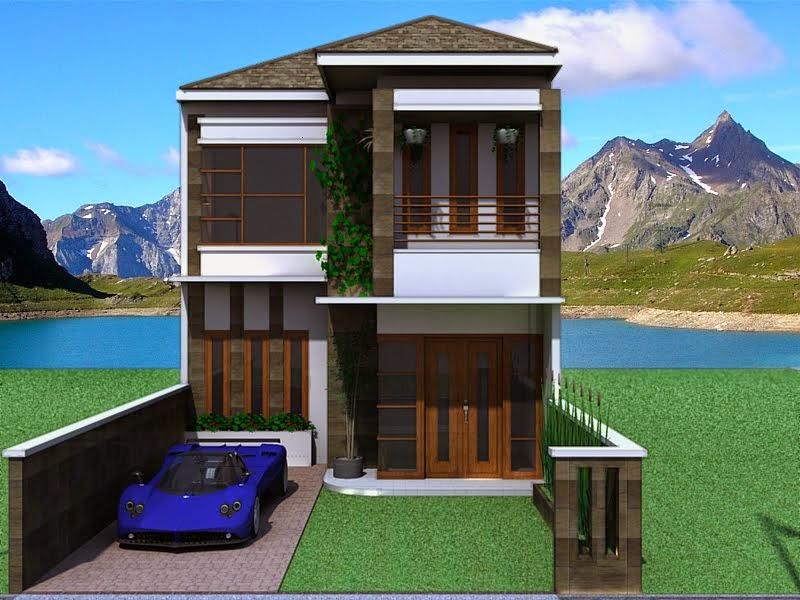desain rumah minimalis 2 lantai tampak depan gambar foto