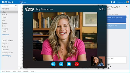 skype in outlook mail