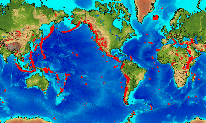 recent earthquakes map. The recent earthquakes that