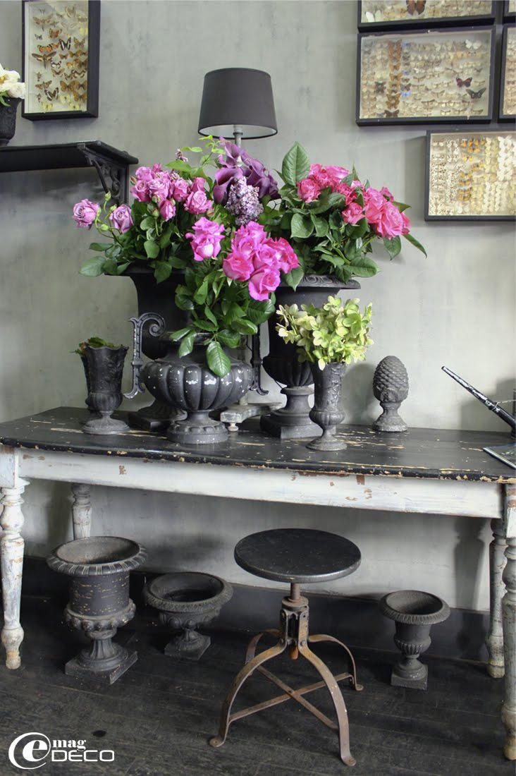 A flower shop in Paris, a report of the magazine of decoration e-magDECO