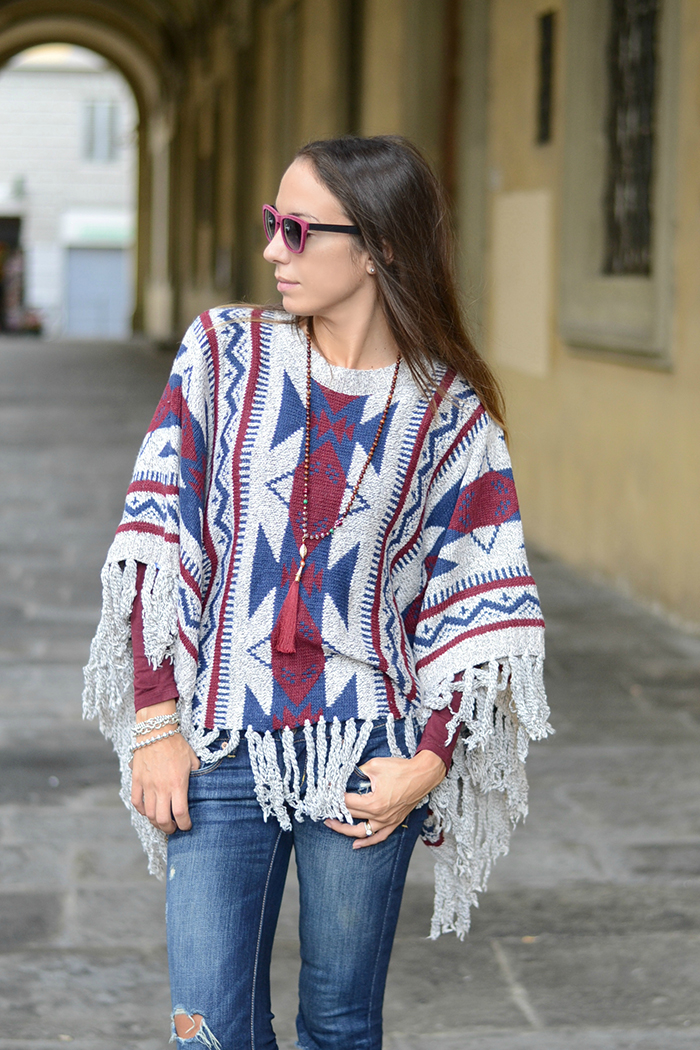 idea outfit poncho