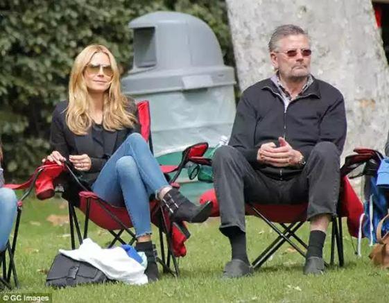 Heidi Klum and father