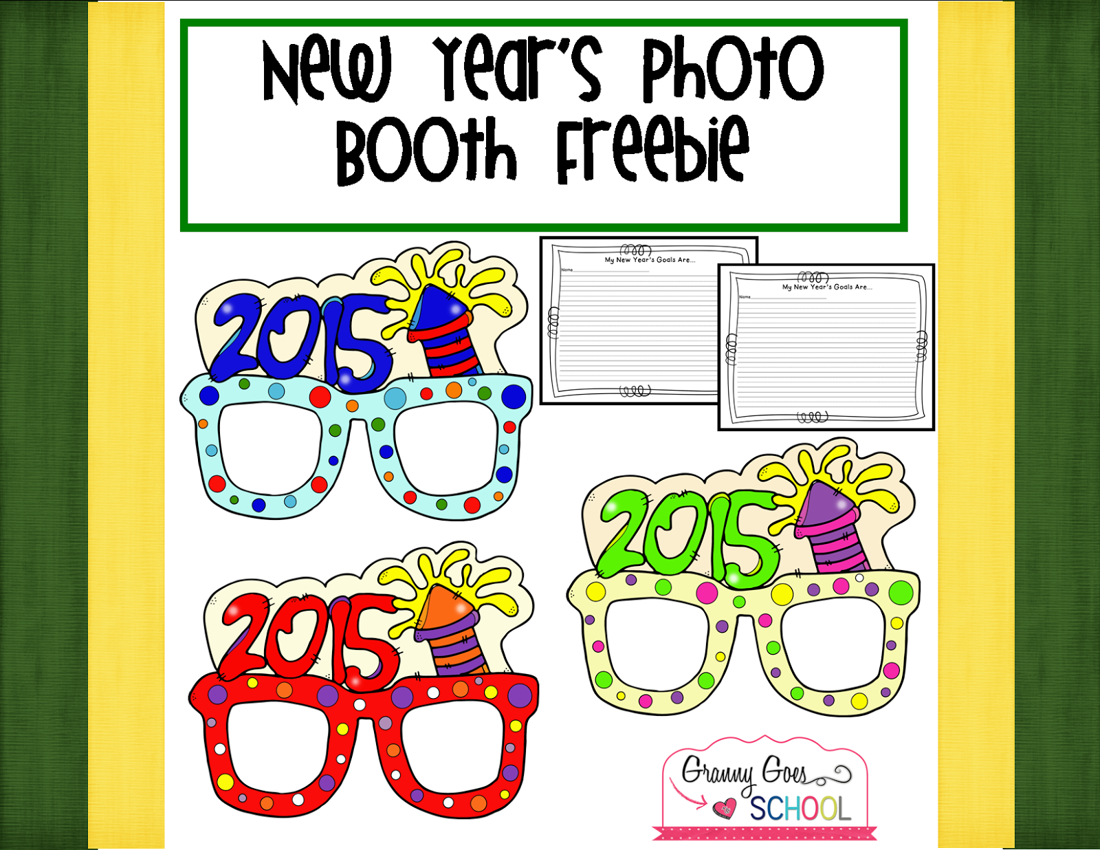 http://www.teacherspayteachers.com/Product/New-Years-Photo-Booth-Freebie-1604226