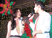 Maja Salvador and Enchong Dee entertain ans in Subic