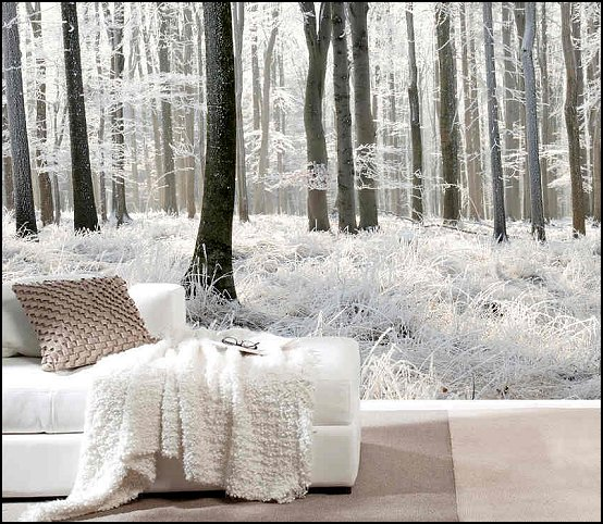 Winter theme wall murals winter theme bedroom wall murals winter themed window murals - Winter bedroom decor ...