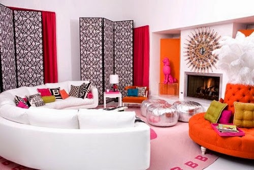 colorful living room decor trends party design