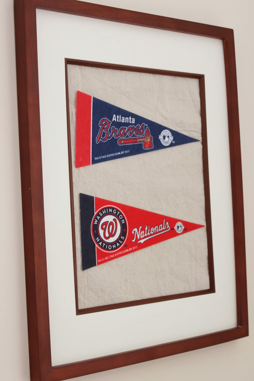 Crafts} - DIY Baseball Pennant Wall Art - Mirabelle Creations