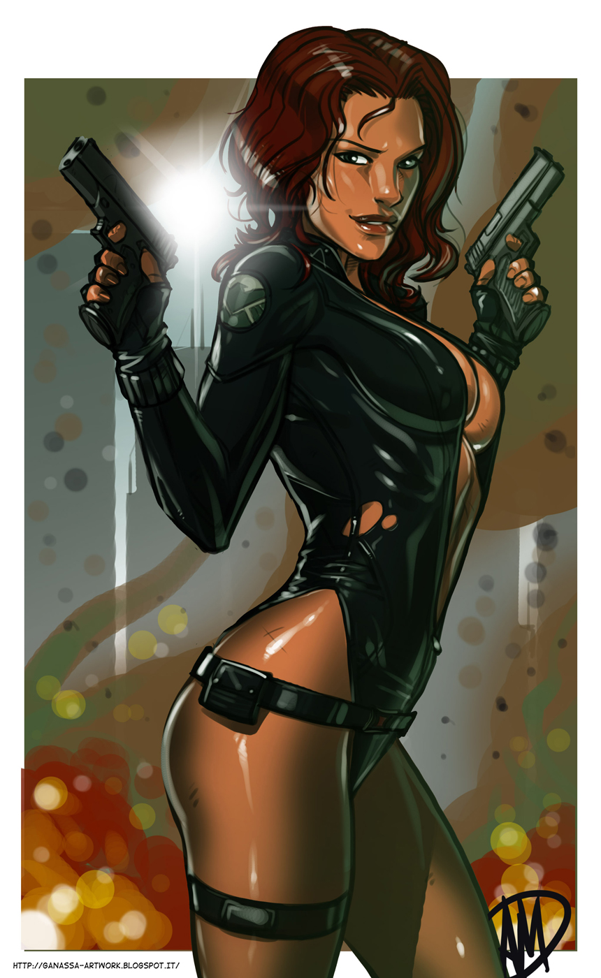 Marvel Avengers porn widow black