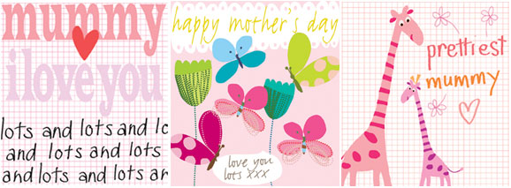 mummy I love you butterflies and flowers happy mother's day girafes prettiest mummy greeting cards designers Liz and Pip Ltd