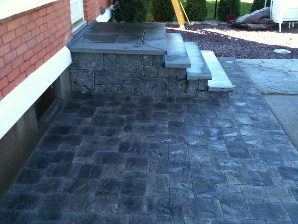 hayner masonry bluestone walkway with stairs before and