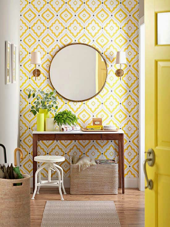 Cute How gorgeous is this Thibault wallpaper as seen in Better Homes u Gardens