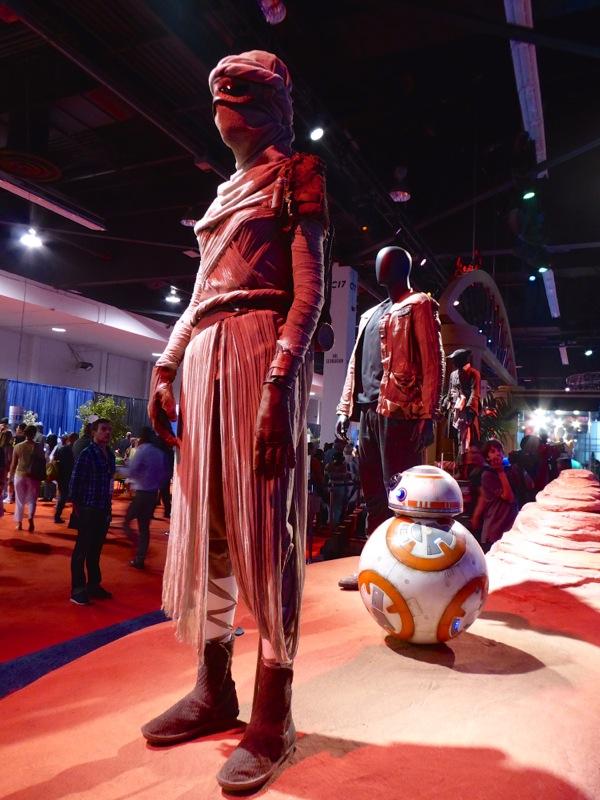 Rey Finn Star Wars Force Awakens movie costumes