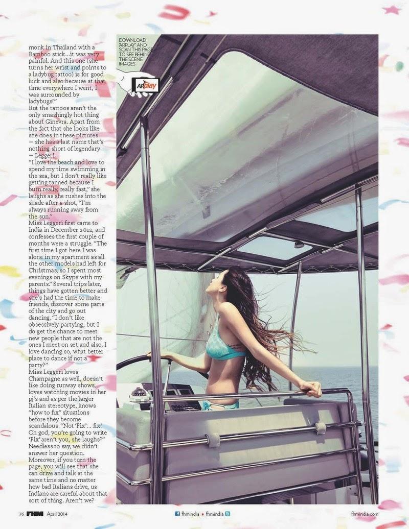 Ginevra, Suzana, Azura For FHM Magazine, India, April 2014