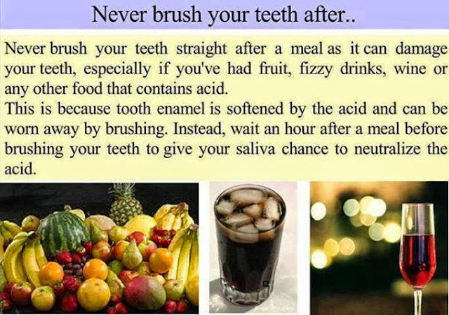 Not Advisable To Brush Teeth Immediately After A Meal
