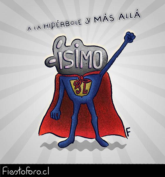 Ísimo es un superheroe, llamado superlativo.