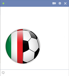 Italy football emoticon