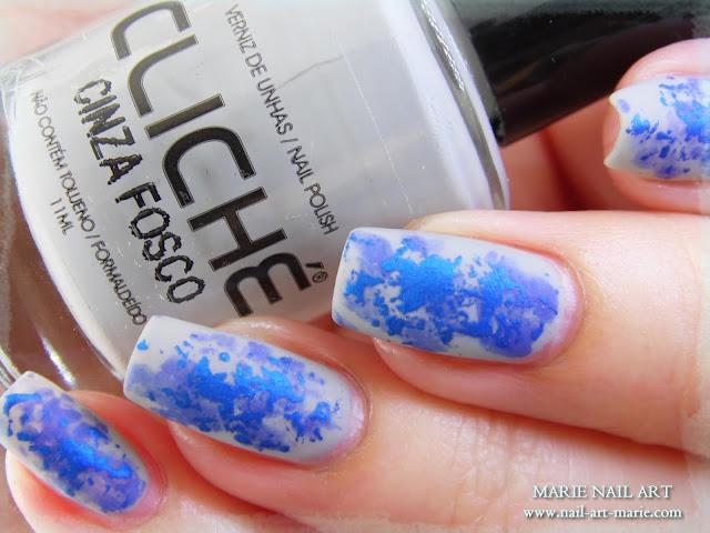 Nail Art Double Texture de Bleu3