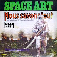 Portada del single Nous savons tout/Mélodie moderne, publicado por el dúo Space Art durante el verano de 1978