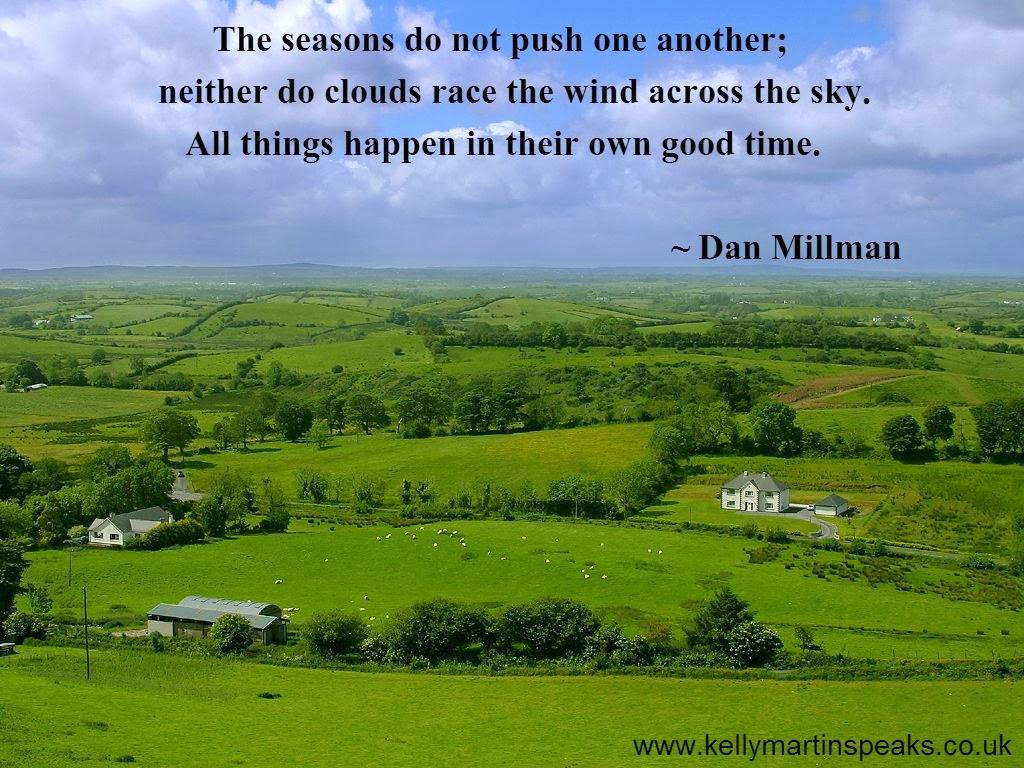 Green Fields In Ireland Dan Millman quote