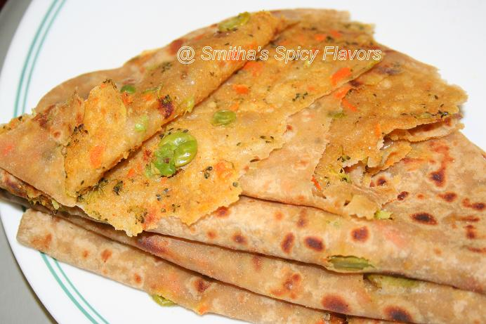 Mixed Vegetable Paratha ~ Smitha's Spicy Flavors, Cooking my way...