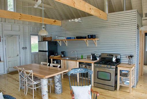 Estilo rustico chapa y madera en cabana rustica - Maderas y chapas ...
