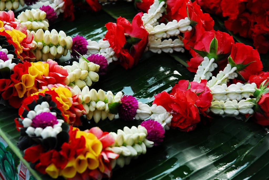 Thai flower garlands