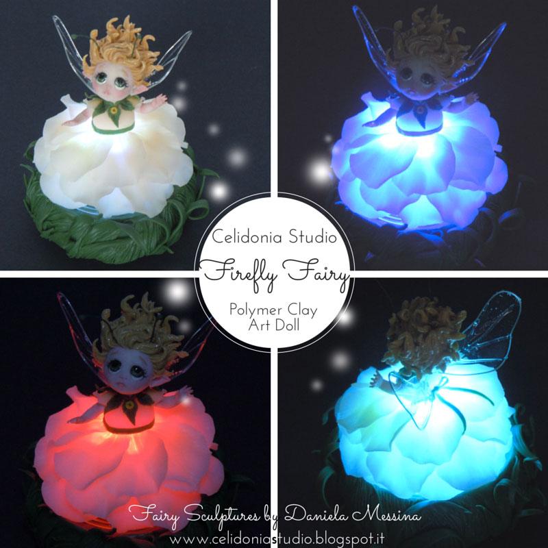 Firefly Fairy - Fatina Lucciola modellata in Pasta Sintetica
