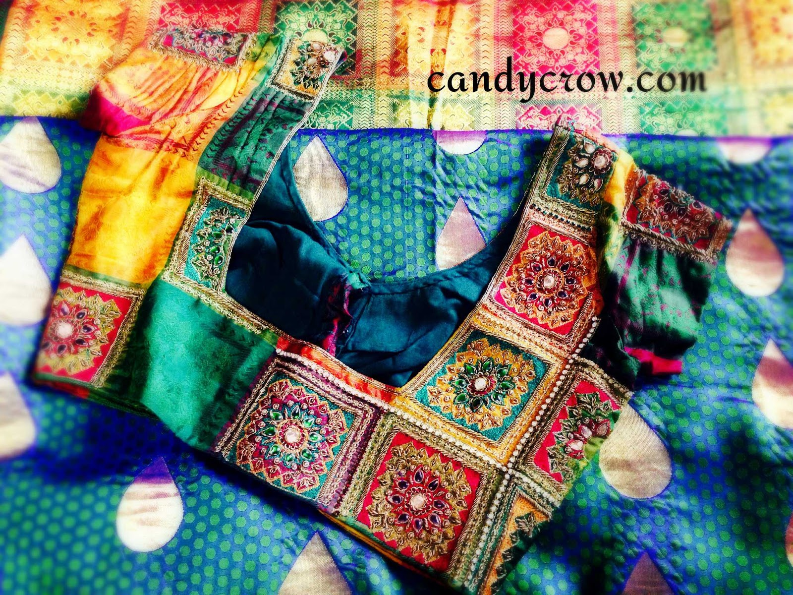 Silk Saree Blouse Design | Diwali Shopping ( Part 2 ) | Candy Crow | Indian Beauty And Lifestyle ...