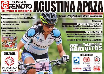 MTB - Eventos gratuitos con Agustina Apaza en Florida (21-22/nov/2014)