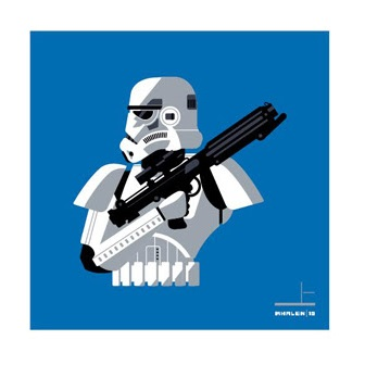 San Diego Comic-Con 2015 Exclusive Star Wars Stormtrooper Screen Print Set by Tom Whalen - Stormtrooper