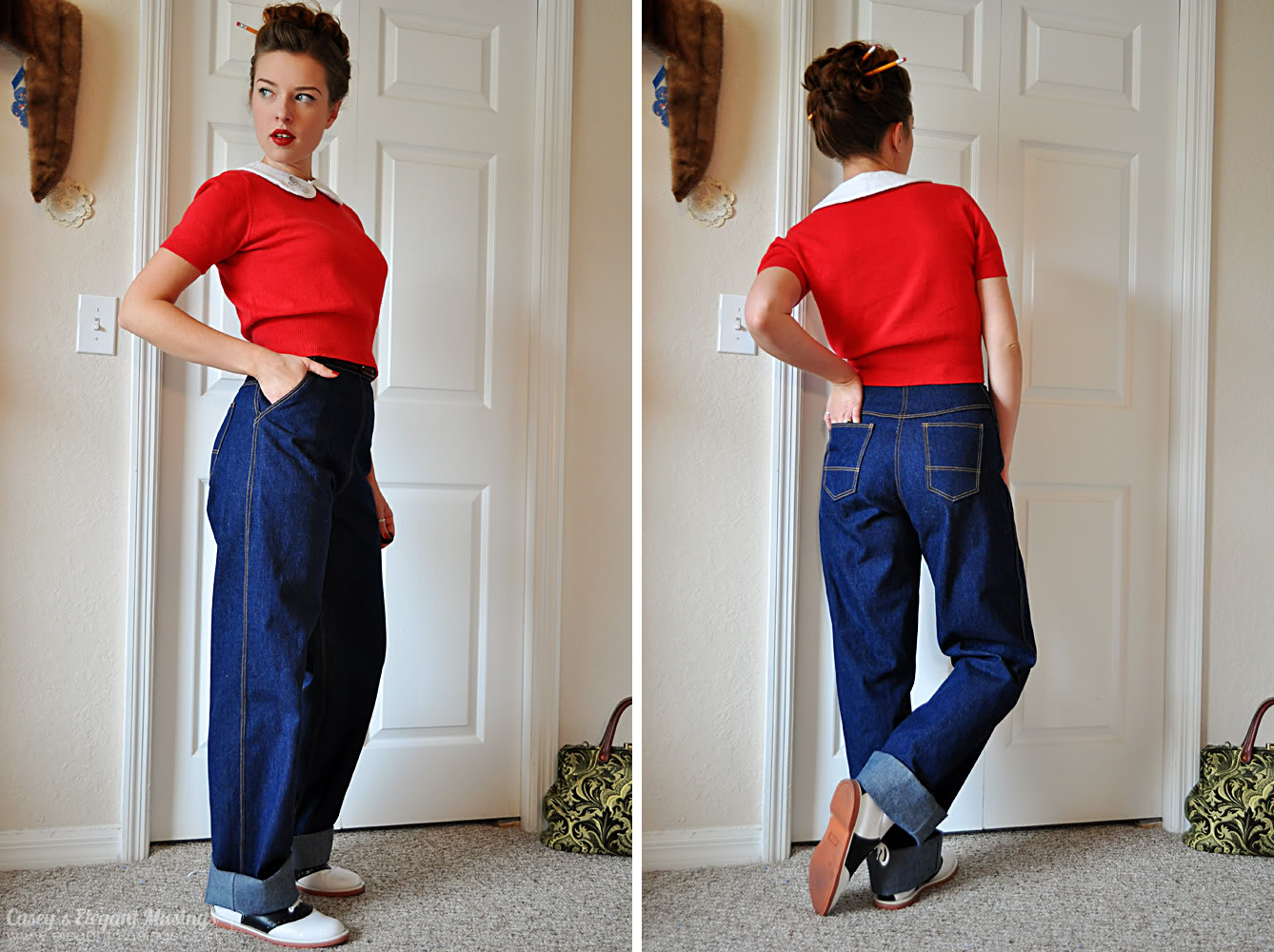Lil Vintage Me Readers Question And A Guide To 1940s Jeans And What To Wear With Them